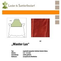 Vollrind-Gürtel-Hals Master Lux - rot