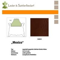 Vollrind-Gürtel-Hals Mexico - cognac