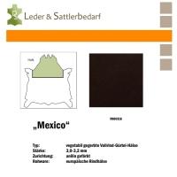 Vollrind-Gürtel-Hals Mexico - dunkelbraun