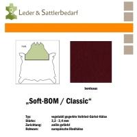 Vollrind-Gürtel-Hals Soft-BOM - bordeaux