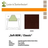 Vollrind-Gürtel-Hals Soft-BOM - marron