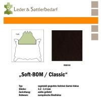 Vollrind-Gürtel-Hals Soft-BOM - mocca