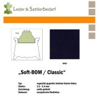 Vollrind-Gürtel-Hals Soft-BOM - navy