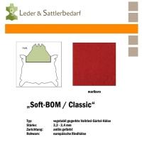 Vollrind-Gürtel-Hals Soft-BOM - rot
