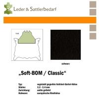Vollrind-Gürtel-Hals Soft-BOM - schwarz