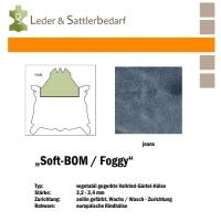 Vollrind-Gürtel-Hals Soft-BOM Foggy - jeans