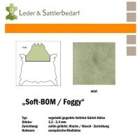 Vollrind-Gürtel-Hals Soft-BOM Foggy - mint