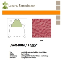 Vollrind-Gürtel-Hals Soft-BOM Foggy - pink