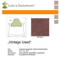 Vollrind-Gürtel-Hals Vintage-Used - bordeaux
