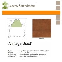 Vollrind-Gürtel-Hals Vintage-Used - cognac