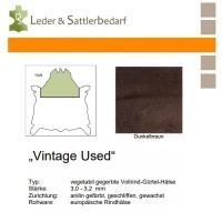 Vollrind-Gürtel-Hals Vintage-Used - dunkelbraun