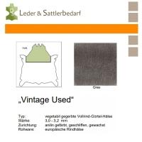 Vollrind-Gürtel-Hals Vintage-Used - grau