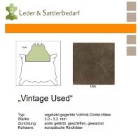 Vollrind-Gürtel-Hals Vintage-Used - oliv