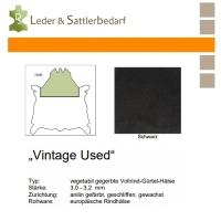 Vollrind-Gürtel-Hals Vintage-Used - schwarz