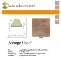 Vollrind-Gürtel-Hals Vintage-Used - taupe