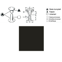 Hohlnieten 7mm - RIV 33/8 - bronziert - 1000er Pack
