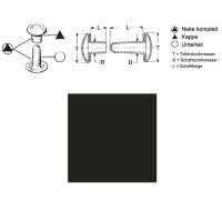Hohlnieten 9mm - RIV-DT 34/8 - geschlossen - anthrazit - 100er Pack