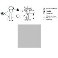 Hohlnieten 6mm - RIV 32/8 - silber - 1000er Pack