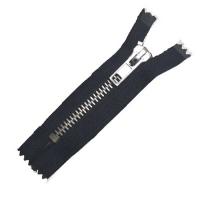 Jeans / Hosen Reissverschluss metall, 16cm, schwarz