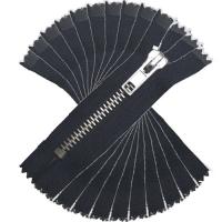 Jeans / Hosen Reissverschluss metall, 16cm, schwarz, 10er Pack