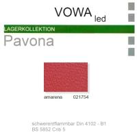 "Kunstleder ""PAVONA"" B1 - 021754 amarena"