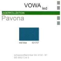 "Kunstleder ""PAVONA"" B1 - 021757 mid blue"