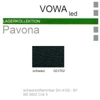 """Kunstleder """"PAVONA"""" B1 - 021762 schwarz"""