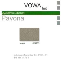 "Kunstleder ""PAVONA"" B1 - 021753 taupe"