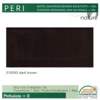 "Kunstleder ""PERI"" - 016045 dark brown / paranuss"