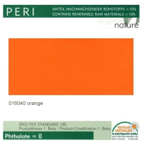 "Kunstleder ""PERI"" - 016040 orange"