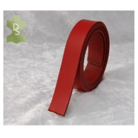 Lederriemen, Gürtelriemen aus Spaltleder - rot