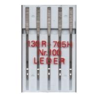 5 Nähmaschinennadeln Leder, 130R/705H, Nr. 100