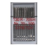 10 Nähmaschinennadeln Stretch, 130R/705H, 70 - 100