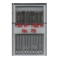 10 Nähmaschinennadeln Universal, 130R/705H - 70