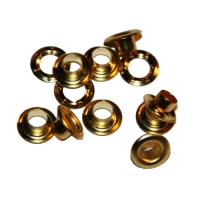 Ösen mit Scheibe - Ø5mm - gold - rostfrei - nickelfrei - 100 Stück