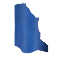 Pull-Up Leder DENVER - 1/2 Haut - electric blue