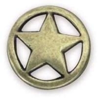 Ranger Star Concho - 32mm - altmessing