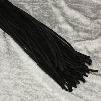 Rindlederriemen 4-kant  - 2,5 x 2,5 mm - schwarz