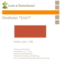 "Rind-Möbelleder ""EASY"" - 2303 chili"