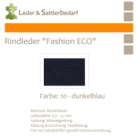 Rindleder Fashion-ECO - 1/4 Haut - 10 dunkelblau
