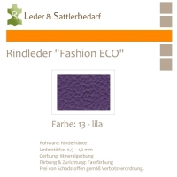 Rindleder Fashion-ECO - 1/4 Haut - 13 lila