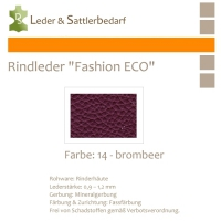 Rindleder Fashion-ECO - 1/4 Haut - 14 brombeer