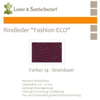 Rindleder Fashion-ECO - 1/2 Haut - 14 brombeer