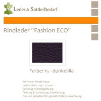 Rindleder Fashion-ECO - 1/4 Haut - 15 dunkellila
