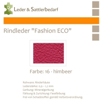 Rindleder Fashion-ECO - 1/4 Haut - 16 himbeer