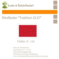 Rindleder Fashion-ECO - 1/4 Haut - 17 rot