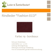 Rindleder Fashion-ECO - 1/4 Haut - 19 bordeaux