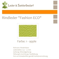 Rindleder Fashion-ECO - 1/4 Haut - 1 apple