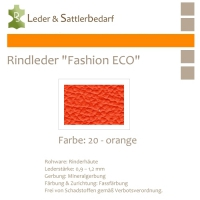 Rindleder Fashion-ECO - 1/4 Haut - 20 orange