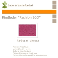 Rindleder Fashion-ECO - 1/2 Haut - 21 altrosa